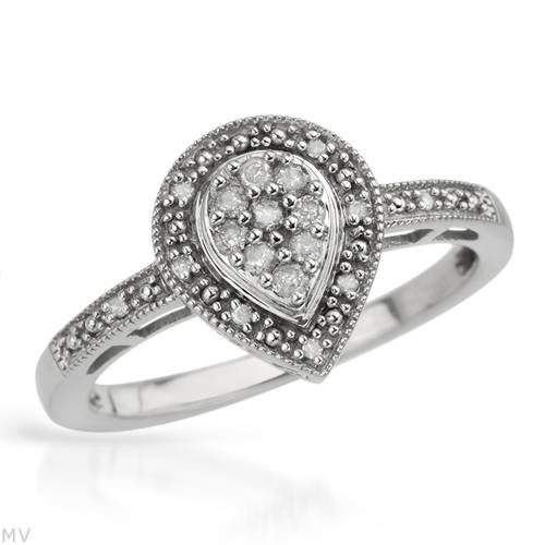 Engagement Rings EXCLUSIVE JEWELERY 0 25ctw Natural Diamond Engagement