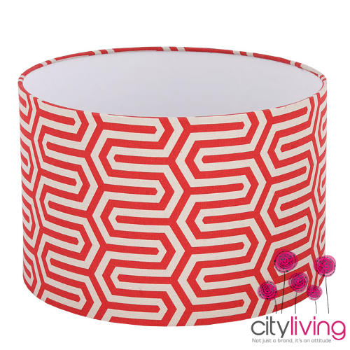 lampshades free shipping illumina red geometric lamp. Black Bedroom Furniture Sets. Home Design Ideas
