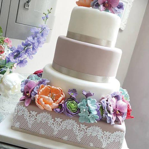 Cake Decorating With Edible Lace : Cake Decorating - Ready made- Edible lace for cake ...