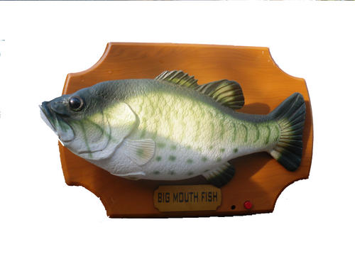 Animals singing bass big mouth fish with motion for Talking bass fish