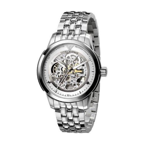 Men 39 s watches emporio armani meccanico men 39 s watches ar4626 retail price r5500 next day for Retail price watches