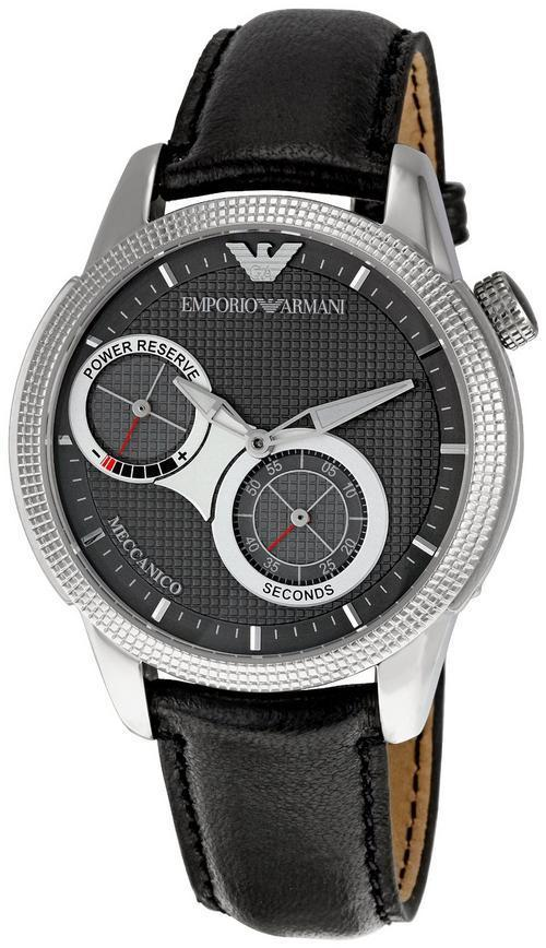 Men 39 s watches emporio armani meccanico men 39 s watches ar4643 retail price r5500 next day for Retail price watches