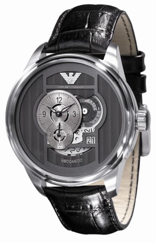 Men 39 s watches emporio armani meccanico men 39 s watches ar4628 exclusive retail price r5500 for Retail price watches
