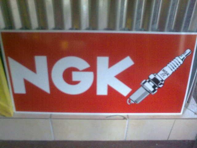 Ngk Spark Plug Display Cabinet Ngk Spark Plugs Sign Bidorbuy