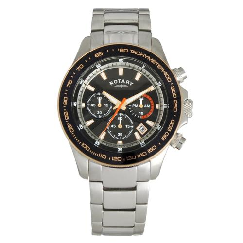 quot new quot rotary chronograph gents stainless steel sports
