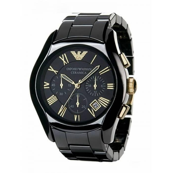 Men 39 s watches new emporio armani ar1413 chronograph ceramica gents watch exclusive item was for Ceramica chronograph