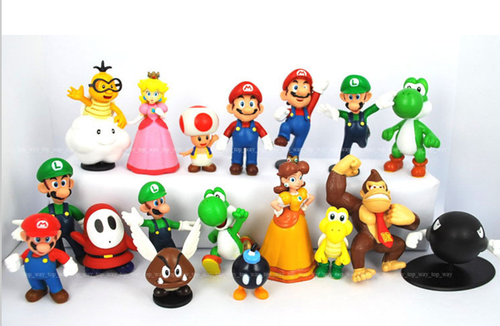 other action figures plastic super mario bros 1 2 5. Black Bedroom Furniture Sets. Home Design Ideas