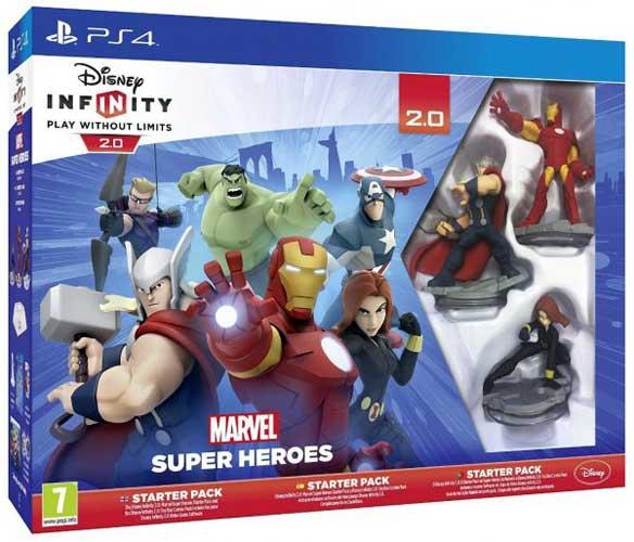 Disney infinity marvel super heroes starter pack ps4 captain