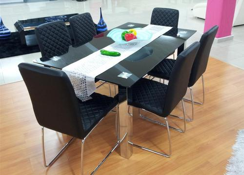 Dining suites modern dining room table with six chairs for Dining room tables south africa