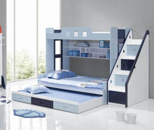 Bedroom sets boys blue and white bunk bed for sale in for White bunk beds for sale
