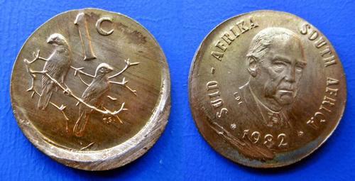 One Cent - ## Mint Error - Off Centre Struck 1982 South ...