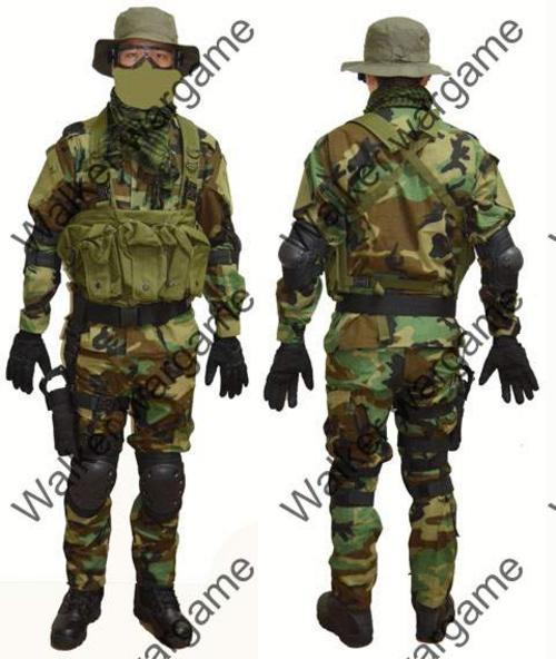 US Navy Seal Special Force Woodland Camo Full Combat Set - 11 PicsNavy Seals Sniper Camo