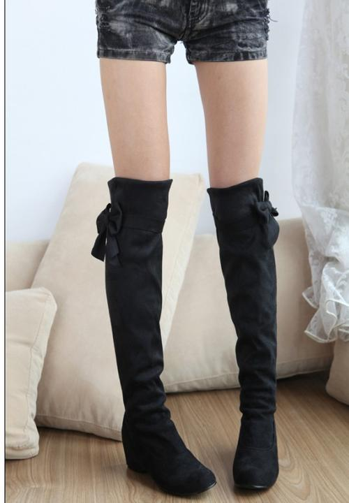 shoes winter sale black knee high boots was