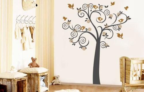 Wall Tattoo Kids : Wall decal- Birdy Tree Huge!!! Vinyl Wall art sticker tattoo for kids ...