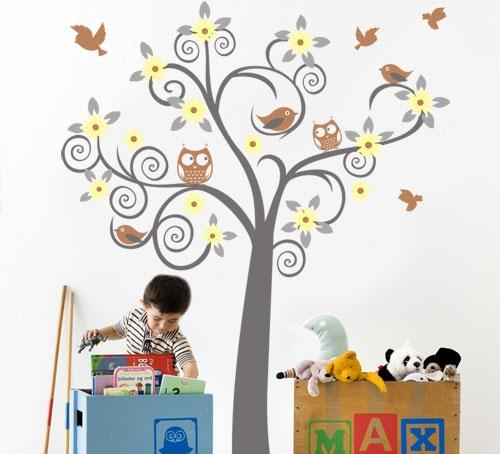 Wall Tattoo Kids : Owl Tree Huge!!! Vinyl Wall decal art sticker tattoo for kids and baby ...
