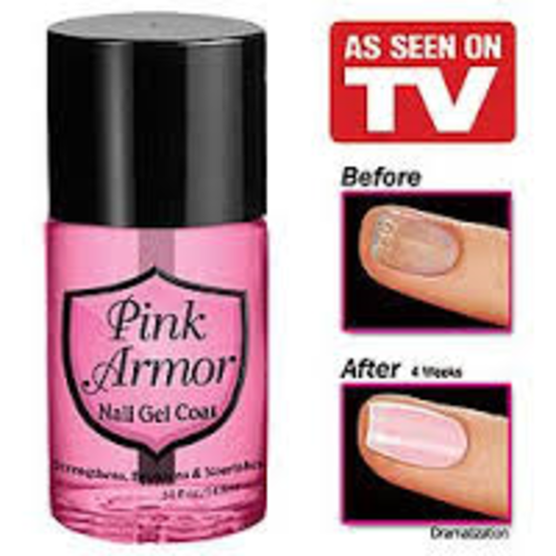 Pink Armor Nail Polish Gel For Strong Healthy Nails- As
