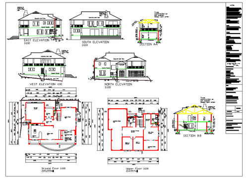 Building Plans 2x Double Storey House Plans For The Price Of 1 Autocad Dwg Format Was Sold