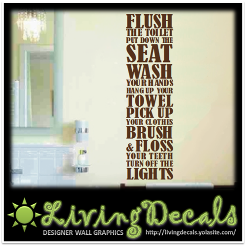 Remarkable Vinyl Decals Wall Art Stickers - Bathroom Rules 500 x 500 · 212 kB · png