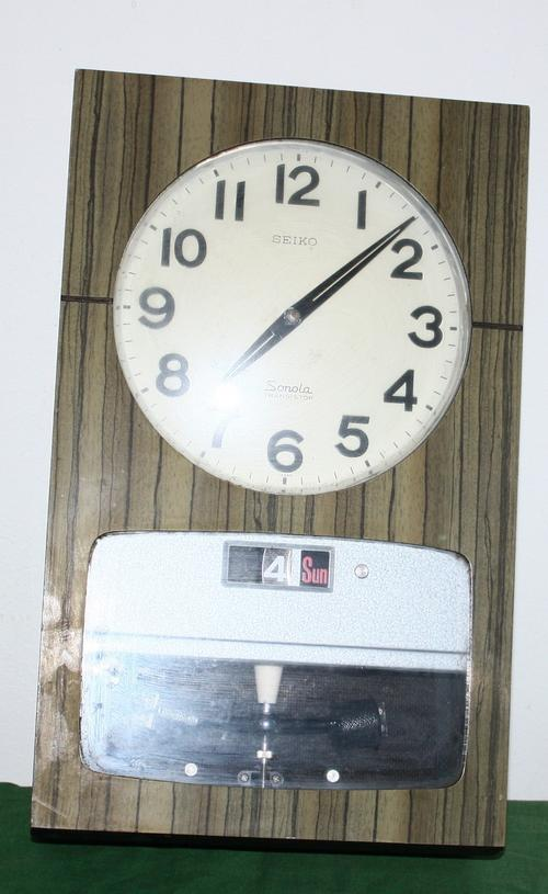 Electrical Clocks Seiko Sonola Transistor Wall Clock No