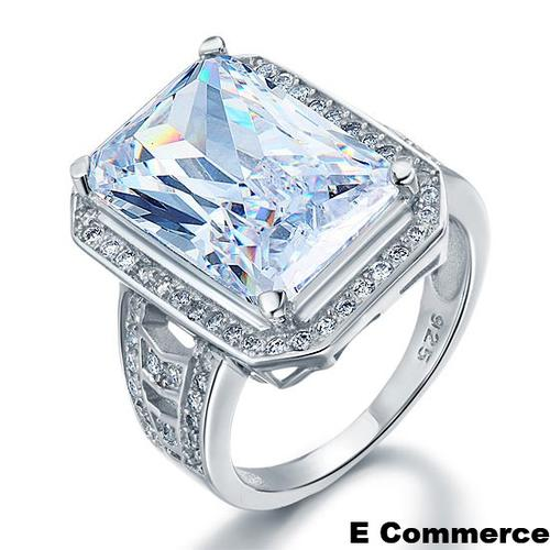 engagement rings 9 2 carat emerald cut lab created